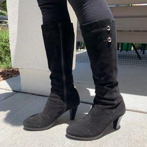 Suede waterproof winter boots